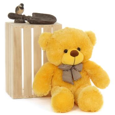 Adorably Big 30in Yellow Teddy Bear Cuddly Soft Daisy Cuddles by Giant Teddy soft and cuddly