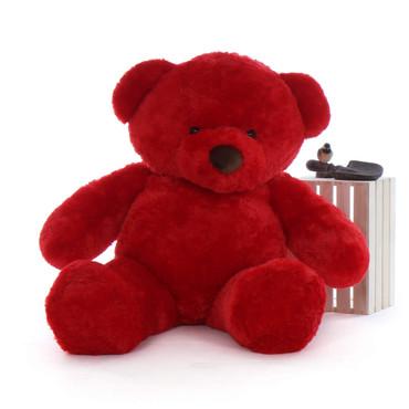 Big Red Teddy Bear Riley Chubs 60in