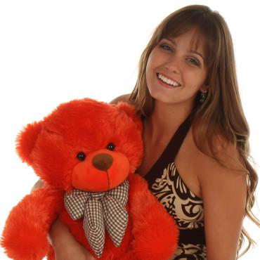 2ft  Big soft Teddy Bear Lovey Cuddles Beautiful Orange Red Fur