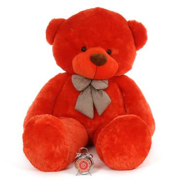 6 feet Huge Life Size huggable Teddy Bear Biggest Cuddles  soft huggable beautiful orange red fur