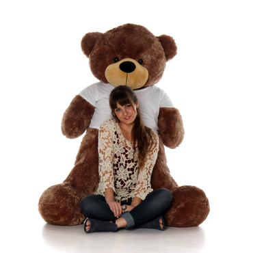 60in Big  Life Size Mocha Brown huggable Teddy Bear Sunny  Cuddles