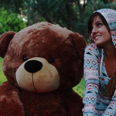 5 feet Giant Super Soft  plush Medium Brown Teddy Bear