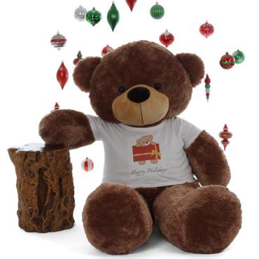 5ft Big Happy Holidays  Life Size Mocha Brown Teddy Bear Sunny Beary special Cuddles