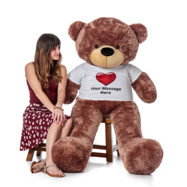 Valentine's Gift Teddy Bear Huge Brown Bear with Personalized Option