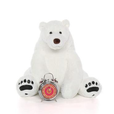 Big White soft cuddly Polar Bear 24in  Snowball Frost