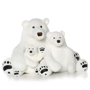Polar Bear Plush Family
