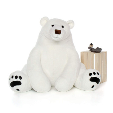 Life Size biggest White Polar Bear plush toy 52in Chilly Frost