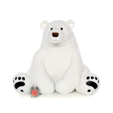 Life Size White Polar Bear plush toy 52in Chilly Frost