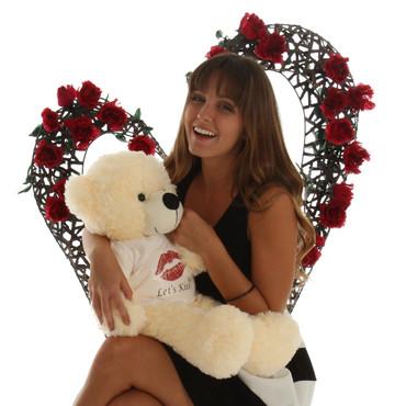 24 in Super Soft Cute Cream Teddy Bear