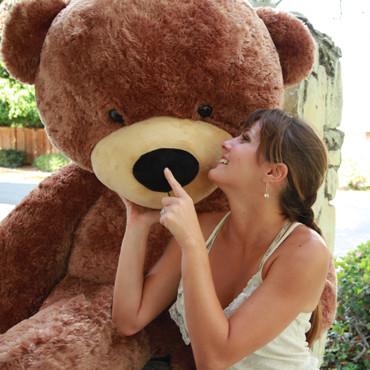 72 in Huggable Medium Brown Teddy Bear