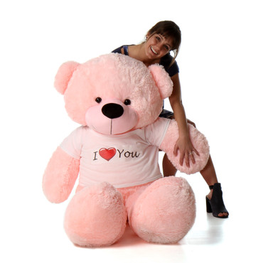 5 foot Giant I Love You Pink Teddy Bear