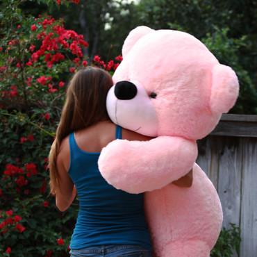 5 feet Giant Huggable Super soft  Pink Plush Teddy Bear