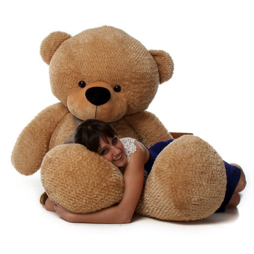 6 foot Super Soft  Amber Brown Teddy Bear