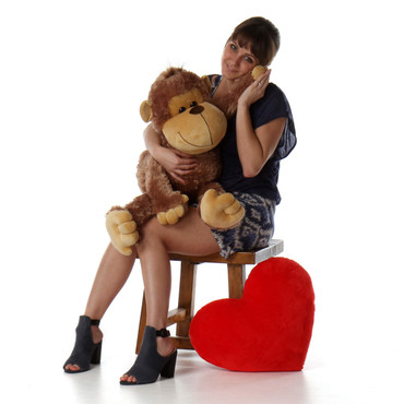 3ft Huge Best Stuffed Monkey Silly Sammy, super soft fur, from Giant Teddy brand