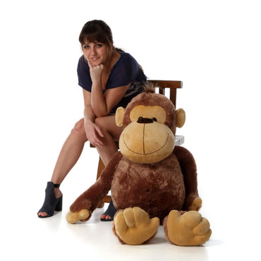 46in Life Size soft Stuffed Mocha Monkey Sweet Sally Sue from Giant Teddy brand