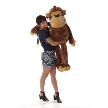 4ft Life Size Lovable Stuffed Mocha Monkey Sweet Sally Sue from Giant Teddy brand