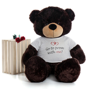 Personalized Graduation 60in Chocolate Brown Teddy Bear