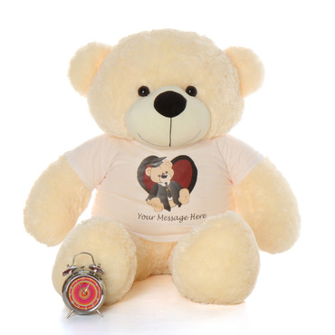 Life Size 4ft Personalized Graduation Teddy Bear Vanilla Cozy Cuddles