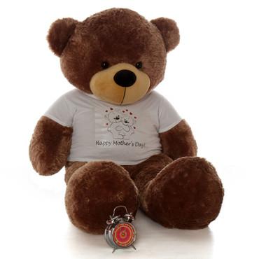 5ft Happy Mother's Day teddy bear mocha Sunny Cuddles