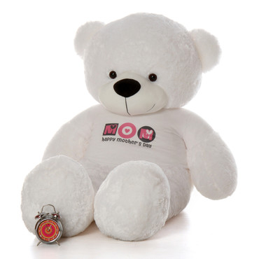 6ft White Coco Cuddles Happy Mother's Day teddy bear