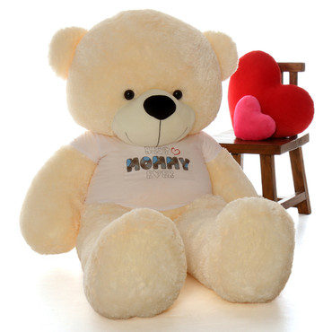 Life Size 6ft Best Mommy Ever teddy bear vanilla cream Cozy Cuddles