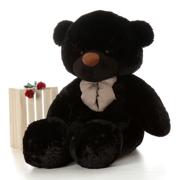 72in Juju Cuddles Black Teddy Bear