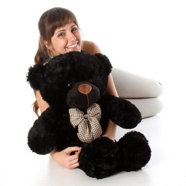 beautiful black teddy bear with heavenly soft fur 30 in