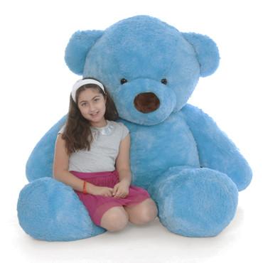 Big Blue Teddy Bear Sammy Chubs 72in