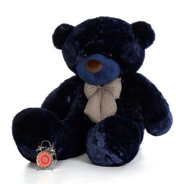 Big 60in Royce Cuddles Navy Blue Soft Teddy Bear