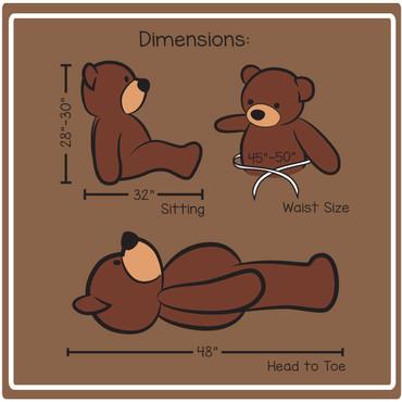 4 ft cuddles Dimension