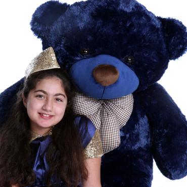 4ft Giant Teddy Navy Blue Bear Royce Cuddles Family