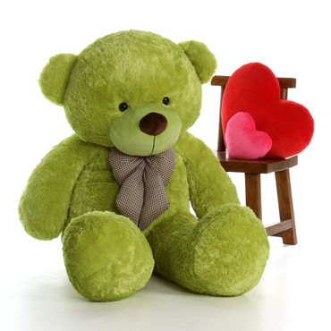60in Giant Teddy Bear Perfect For Cuddling Lime Green