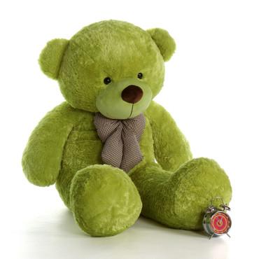 5ft Ace Cuddles Lime Green Giant Teddy Bear