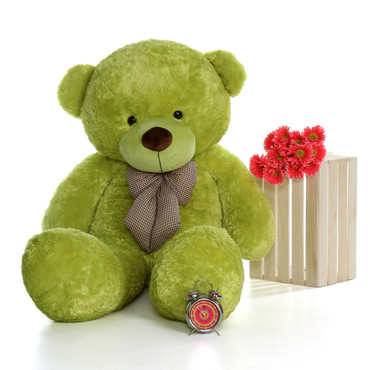 60in Lime Green Huge and Soft Ace Cuddles Teddy Bear