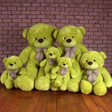 Family Lime green Huggable Plush Teddy Bears