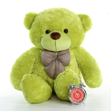 Huge 48in Lime Green Teddy Bear Ace Cuddles Family