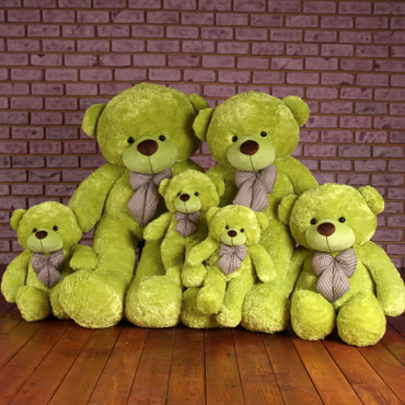Family Lime green Huggable Plush Teddy Bears