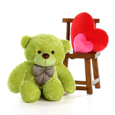 3.5 ft Giant Teddy Bear Lime Green Ace Cuddles