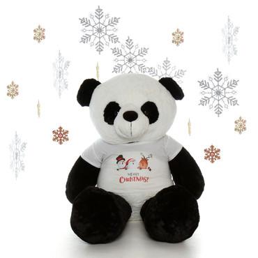 5 foot Christmas Panda Teddy bear