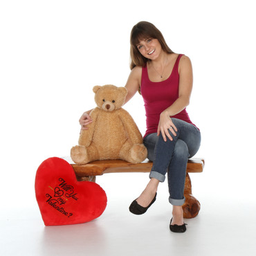 2 feet Than Plush Teddy Bear Gift with Heart