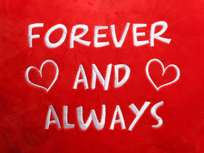 Forever and Always Heart Design (Close Up)