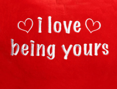 I Love Being Yours Heart Design (Close Up)