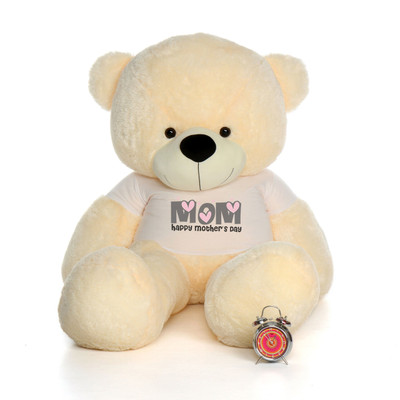 72in Red Bitsy Cuddles Happy Mother's Day Mom Teddy Bear