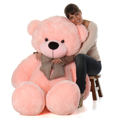 5 Foot Soft Pink Teddy Bear Huge Life Size Plush Teddy Bear Toy Sweet Lady Cuddles