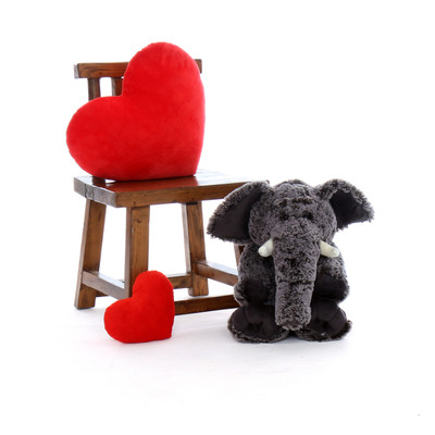 24in Grey Ellie Elephant Oversized Stuffed Animal