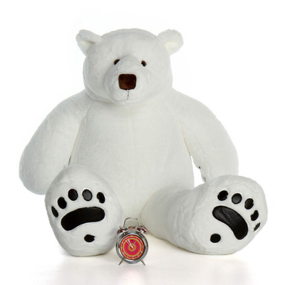 Giant Large Stuffed Polar Bear with Paws
