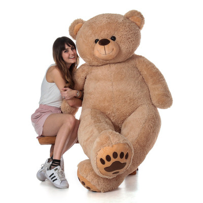 Super Soft Cute and Cuddly 6 Foot Teddy Bear with Huge Pillow Heart
