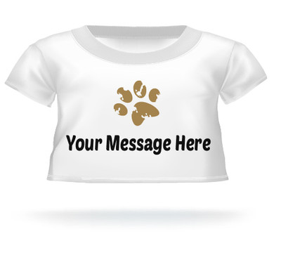 Giant Teddy Bear with Paw Print T-shirt