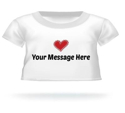 Giant Teddy Bear Heart Stamp T-shirt