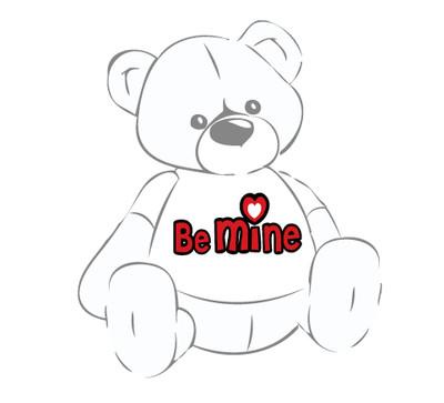 Be Mine T-shirt for Huge Teddy Bear